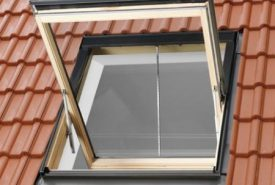 GGL 307040 – wooden, smoke ventilation window, top opening, double glazed, energy-saving pane, toughened and laminated glass P2A, Uw = 1,3