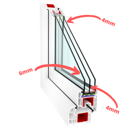 6 mm pane for double-chamber (Triple-glazed) windows