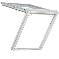 GTU 0070 – wooden-polyurethane, attic window and an exit to the roof at once, energy-saving pane, toughened and laminated glass P2A, Uw = 1,3