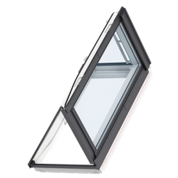 GXU 0070 – wooden-polyurethane, side-hung rooflight (hatch), energy-saving pane, toughened and laminated glass P2A, Uw = 1,3