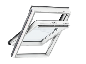 GLU S20001 – INTEGRA® Comfort Package (GLU 0051 + KMG 100K) – wooden-polyurethane, top opening, double glazed, energy-saving pane, toughened glass, Uw = 1,3