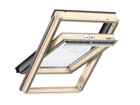 GLL S10J01 – (GLL 1061 + EDJ + BDX F in the package) – wooden, top opening, triple glazed, energy-saving pane, Uw = 1,1
