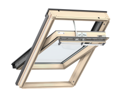 GGL 306221 – wooden, top opening, VELUX INTEGRA® electric control, triple glazed, super energy-saving pane, toughened and laminated glass P2A, rain noise reduction, Uw = 0,92